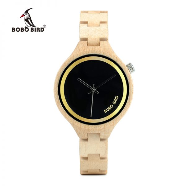 BOBO BIRD 4 O'clock Slant Quartz Ladies Watch