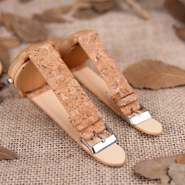 BOBO BIRD Lovers Bamboo & Cork Couple Watches