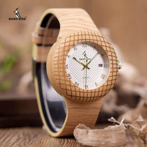 BOBO BIRD Watch Etched Ladies with Leather Strap