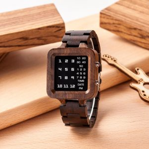WOODme Zebrawood Digital Watch for Men