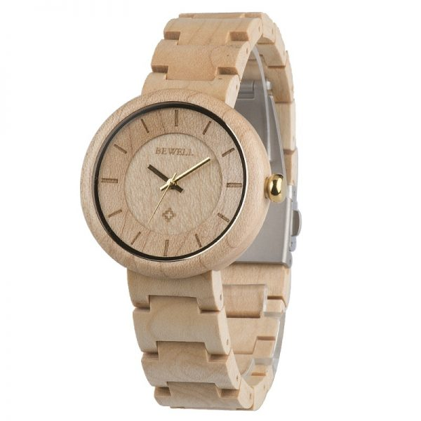 BEWELL Classic Ladies Luxury Wooden Watch