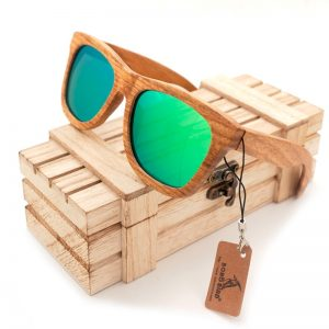 BOBO BIRD Handmade Solid Wood Mirrored Sunglasses