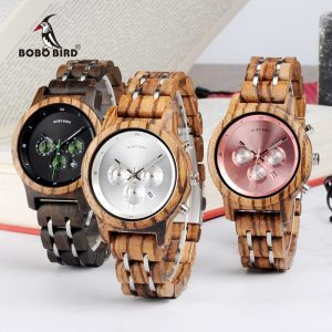 BOBO BIRD Watch Chronograph Quartz Wanita Mewah